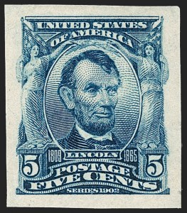 Sale Number 1217, Lot Number 1063, 1902-08 Issues (Scott 300-320)5c Blue, Imperforate (315), 5c Blue, Imperforate (315)