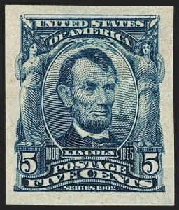 Sale Number 1217, Lot Number 1064, 1902-08 Issues (Scott 300-320)5c Blue, Imperforate (315), 5c Blue, Imperforate (315)