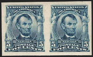 Sale Number 1217, Lot Number 1066, 1902-08 Issues (Scott 300-320)5c Blue, Imperforate (315), 5c Blue, Imperforate (315)