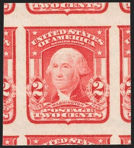 Sale Number 1217, Lot Number 1069, 1902-08 Issues (Scott 300-320)2c Scarlet, Ty. I, Imperforate (320b), 2c Scarlet, Ty. I, Imperforate (320b)