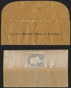 "Sale Number 1217, Lot Number 1075, Booklets and Stamp Envelopes""Wechsler and Abraham, Buy Your Postage Stamps in Brooklyn"", ""Wechsler and Abraham, Buy Your Postage Stamps in Brooklyn"""