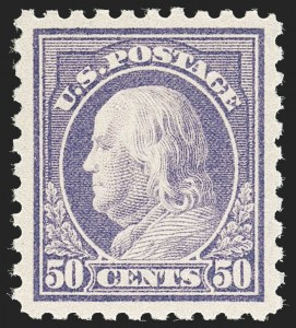 Sale Number 1217, Lot Number 1120, 1912-18 Issues (Scott 405-491)50c Violet (440), 50c Violet (440)