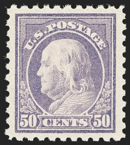 Sale Number 1217, Lot Number 1121, 1912-18 Issues (Scott 405-491)50c Violet (440), 50c Violet (440)
