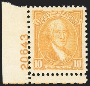Sale Number 1217, Lot Number 1212, Later Issues (9Scott 689-5306b)10c Washington Bicentennial (715), 10c Washington Bicentennial (715)