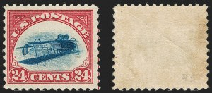 Sale Number 1217, Lot Number 1229, The 1918 24c Inverted Jenny, Position 9524c Carmine Rose & Blue, Center Inverted (C3a), 24c Carmine Rose & Blue, Center Inverted (C3a)