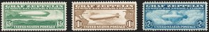 Sale Number 1217, Lot Number 1241, Air Post65c-$2.60 Graf Zeppelin (C13-C15), 65c-$2.60 Graf Zeppelin (C13-C15)