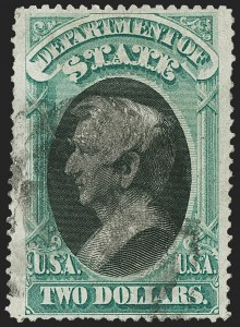 Sale Number 1217, Lot Number 1270, Officials$2.00 State (O68), $2.00 State (O68)