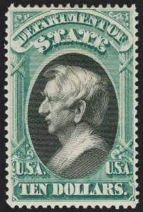 Sale Number 1217, Lot Number 1271, Officials$10.00 State (O70), $10.00 State (O70)