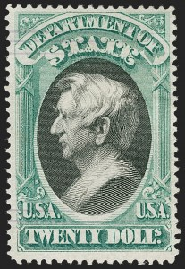 Sale Number 1217, Lot Number 1274, Officials$20.00 State (O71), $20.00 State (O71)