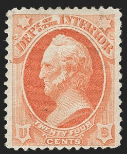 Sale Number 1217, Lot Number 1277, Officials24c Interior, Soft Paper (O103), 24c Interior, Soft Paper (O103)