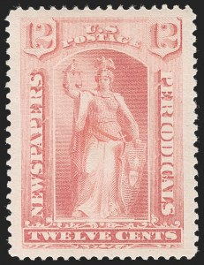 Sale Number 1217, Lot Number 1297, Newspapers and Periodicals12c Pink, 1894 Issue (PR95), 12c Pink, 1894 Issue (PR95)