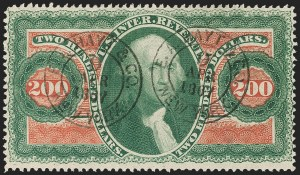 Sale Number 1217, Lot Number 1417, Revenues - First Issue$200.00 U.S.I.R., Perforated (R102c), $200.00 U.S.I.R., Perforated (R102c)