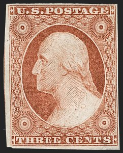Sale Number 1217, Lot Number 516, 3c 1851-57 Issues - Imprint Positions3c Orange Brown, Ty. II (10A), 3c Orange Brown, Ty. II (10A)