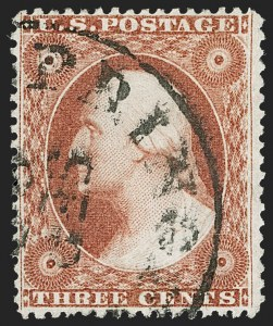 Sale Number 1217, Lot Number 555, 3c 1851-57 Issues - Shades3c Orange Brown, Ty. IV (26A var), 3c Orange Brown, Ty. IV (26A var)