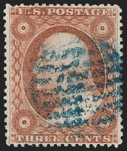 Sale Number 1217, Lot Number 556, 3c 1851-57 Issues - Shades3c Etruscan Red, Ty. IV (26A var), 3c Etruscan Red, Ty. IV (26A var)