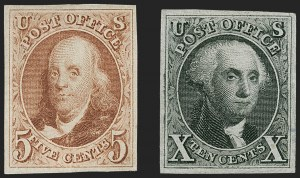 Sale Number 1217, Lot Number 695, 1875 Reproduction of 1847 Issue (Scott 3-4)5c Red Brown, 10c Black Reproductions (3, 4), 5c Red Brown, 10c Black Reproductions (3, 4)