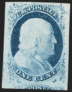 Sale Number 1217, Lot Number 701, 1c 1851-56 Issue (Scott 6-9)1c Blue, Ty. II (7), 1c Blue, Ty. II (7)