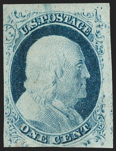 Sale Number 1217, Lot Number 702, 1c 1851-56 Issue (Scott 6-9)1c Blue, Ty. II (7), 1c Blue, Ty. II (7)