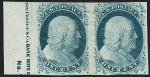 Sale Number 1217, Lot Number 703, 1c 1851-56 Issue (Scott 6-9)1c Blue, Ty. II (7), 1c Blue, Ty. II (7)