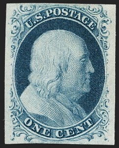 Sale Number 1217, Lot Number 706, 1c 1851-56 Issue (Scott 6-9)1c Blue, Ty. II (7), 1c Blue, Ty. II (7)