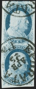 Sale Number 1217, Lot Number 707, 1c 1851-56 Issue (Scott 6-9)1c Blue, Ty. II (7), 1c Blue, Ty. II (7)