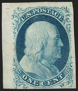Sale Number 1217, Lot Number 711, 1c 1851-56 Issue (Scott 6-9)1c Blue, Ty. IV (9), 1c Blue, Ty. IV (9)