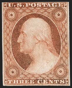 Sale Number 1217, Lot Number 718, 3c-12c 1851-56 Issue (Scott 10-17)3c Orange Brown, Ty. II (10A), 3c Orange Brown, Ty. II (10A)