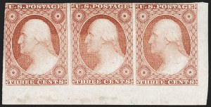 Sale Number 1217, Lot Number 722, 3c-12c 1851-56 Issue (Scott 10-17)3c Dull Red, Ty. II (11A), 3c Dull Red, Ty. II (11A)