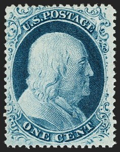 Sale Number 1217, Lot Number 752, 1c-3c 1857-60 Issue (Scott 18-26A)1c Blue, Ty. II (20), 1c Blue, Ty. II (20)