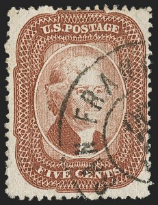 Sale Number 1217, Lot Number 766, 5c 1857-60 Issue (Scott 27-30A)5c Brick Red (27), 5c Brick Red (27)