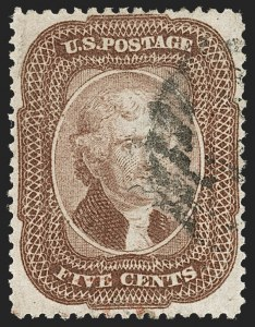 Sale Number 1217, Lot Number 770, 5c 1857-60 Issue (Scott 27-30A)5c Brown (29), 5c Brown (29)