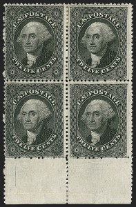 Sale Number 1217, Lot Number 790, 10c-90c 1857-60 Issue (Scott 31-39)12c Black, Plate 3 (36B), 12c Black, Plate 3 (36B)