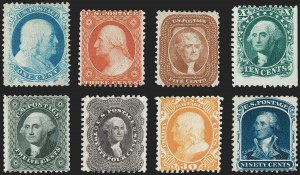 Sale Number 1217, Lot Number 797, 1875 Reprint of 1857-60 Issue (Scott 40-47)1c-90c 1875 Reprint of 1851-57 Issue (40-47), 1c-90c 1875 Reprint of 1851-57 Issue (40-47)