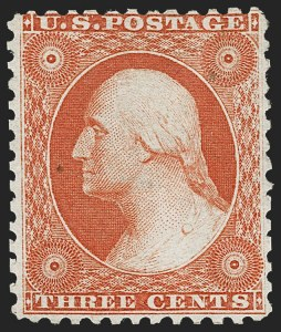 Sale Number 1217, Lot Number 801, 1875 Reprint of 1857-60 Issue (Scott 40-47)3c Scarlet, Reprint (41), 3c Scarlet, Reprint (41)