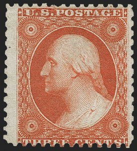 Sale Number 1217, Lot Number 803, 1875 Reprint of 1857-60 Issue (Scott 40-47)3c Scarlet, Reprint (41), 3c Scarlet, Reprint (41)