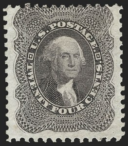 Sale Number 1217, Lot Number 807, 1875 Reprint of 1857-60 Issue (Scott 40-47)24c Blackish Violet, Reprint (45), 24c Blackish Violet, Reprint (45)