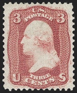 Sale Number 1217, Lot Number 820, 1861-66 Issue (Scott 56-78)3c Brown Rose, First Design (56), 3c Brown Rose, First Design (56)