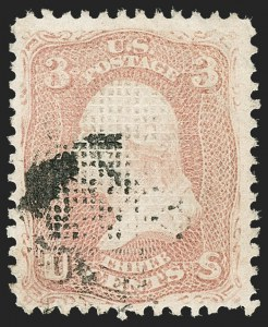 Sale Number 1217, Lot Number 849, 1867-68 Grilled Issue (Scott 79-101)3c Rose, C. Grill (83), 3c Rose, C. Grill (83)