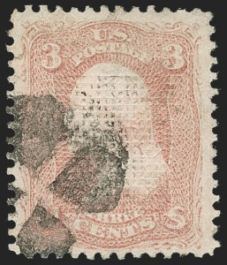 Sale Number 1217, Lot Number 851, 1867-68 Grilled Issue (Scott 79-101)3c Rose, D. Grill (85), 3c Rose, D. Grill (85)