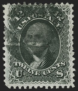 Sale Number 1217, Lot Number 854, 1867-68 Grilled Issue (Scott 79-101)12c Black, Z. Grill (85E), 12c Black, Z. Grill (85E)