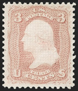 Sale Number 1217, Lot Number 855, 1867-68 Grilled Issue (Scott 79-101)3c Rose, E. Grill (88), 3c Rose, E. Grill (88)