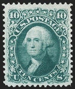 Sale Number 1217, Lot Number 860, 1867-68 Grilled Issue (Scott 79-101)10c Yellow Green, F. Grill (96), 10c Yellow Green, F. Grill (96)