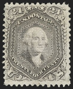 Sale Number 1217, Lot Number 863, 1867-68 Grilled Issue (Scott 79-101)24c Gray Lilac, F. Grill (99), 24c Gray Lilac, F. Grill (99)