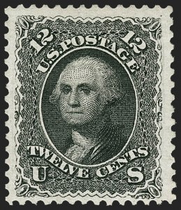 Sale Number 1217, Lot Number 871, 1875 Re-Issue of 1861-66 Issue (Scott 102-111)12c Black, Re-Issue (107), 12c Black, Re-Issue (107)
