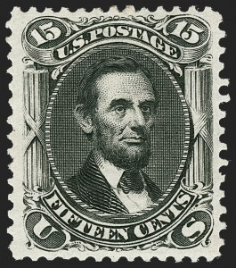Sale Number 1217, Lot Number 874, 1875 Re-Issue of 1861-66 Issue (Scott 102-111)15c Black, Re-Issue (108), 15c Black, Re-Issue (108)
