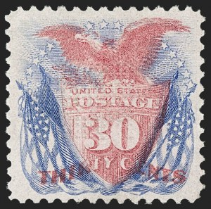 Sale Number 1217, Lot Number 908, 1869 Pictorial Issue (Scott 112-122)30c Ultramarine & Carmine (121), 30c Ultramarine & Carmine (121)
