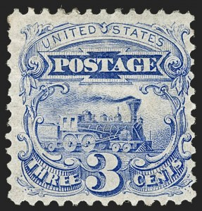 Sale Number 1217, Lot Number 920, 1875 Re-Issue of 1869 Pictorial Issue (Scott 123-133a)3c Blue, Re-Issue (125), 3c Blue, Re-Issue (125)