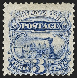 Sale Number 1217, Lot Number 921, 1875 Re-Issue of 1869 Pictorial Issue (Scott 123-133a)3c Blue, Re-Issue (125), 3c Blue, Re-Issue (125)