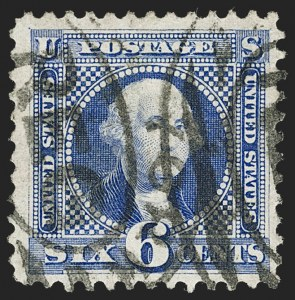 Sale Number 1217, Lot Number 924, 1875 Re-Issue of 1869 Pictorial Issue (Scott 123-133a)6c Blue, Re-Issue (126), 6c Blue, Re-Issue (126)
