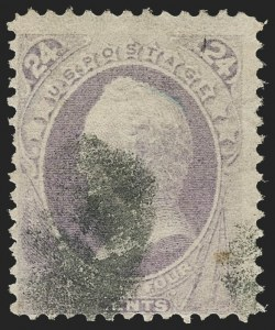 Sale Number 1217, Lot Number 951, 1870-88 Bank Note Issues (Scott 134-218)24c Purple, H. Grill (142), 24c Purple, H. Grill (142)